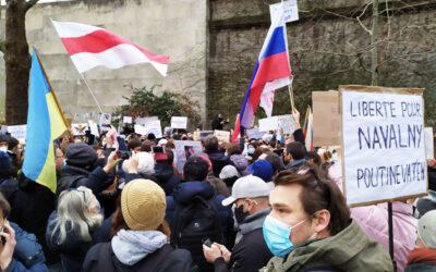 Белорусская, русская и украинская диаспора собрались сегодня на площади Трокадеро в Париже